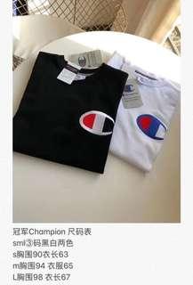 Champion经典款短袖T恤