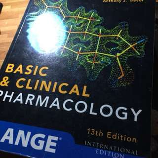13th Edition Pharmacology by Katzung