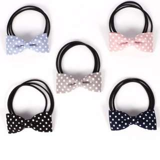 Polkadot bow tie hair bands