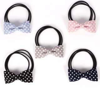 Polkadot bow tie hair bands