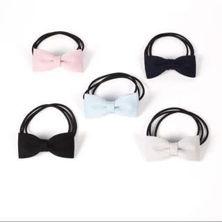 Bow tie elastic hair bands