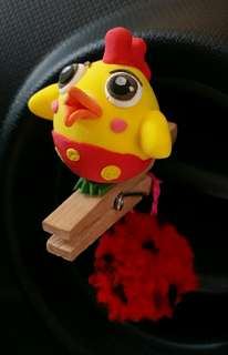 Handmade Car Diffuser (little rooster)