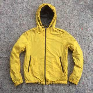 H&M LOGG JACKET HOODED YELLOW