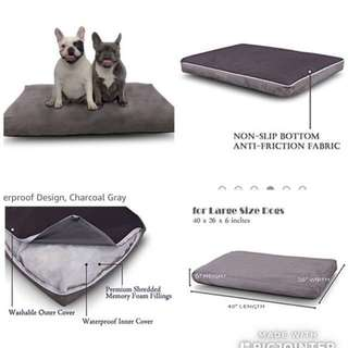 $170 Luxury Memory Foam Dog Bed Large