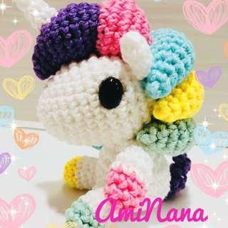 Amigurumi Rainbow Unicorno