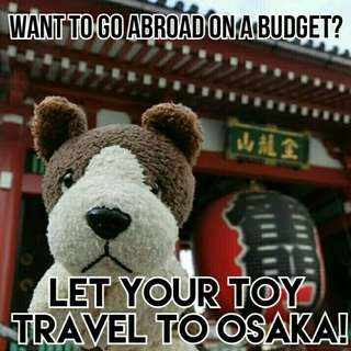Let your toy travel with me! 🇯🇵🛩