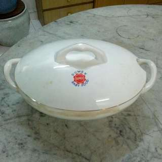 Dumex Porcelain Tureen Casserole Vintage 9