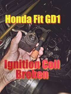 Honda fit GD1 Ignition coil replacement due to misfire (labour on spot)