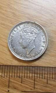 1938年香港政府KG6五仙5c硬幣一枚 上佳品相 包郵便宜出37