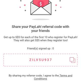 Paylah code for new user
