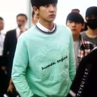 Chanyeol Tiffany blue sweater