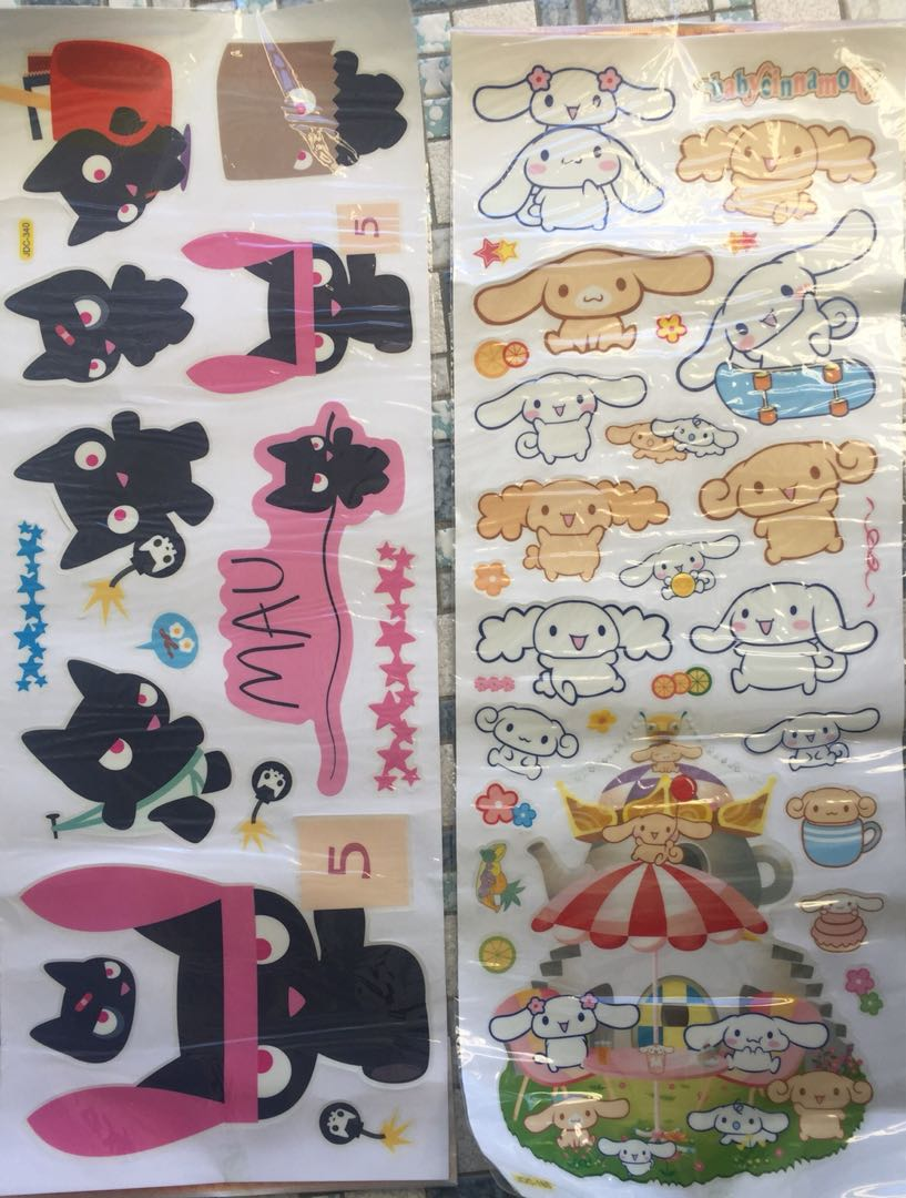2 cute sets of house decor stickers