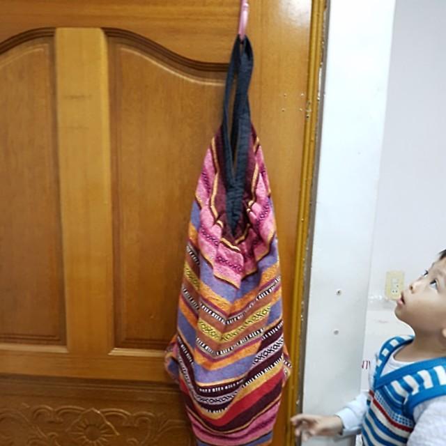 三用斜背,後背,肩背,容量大編織包