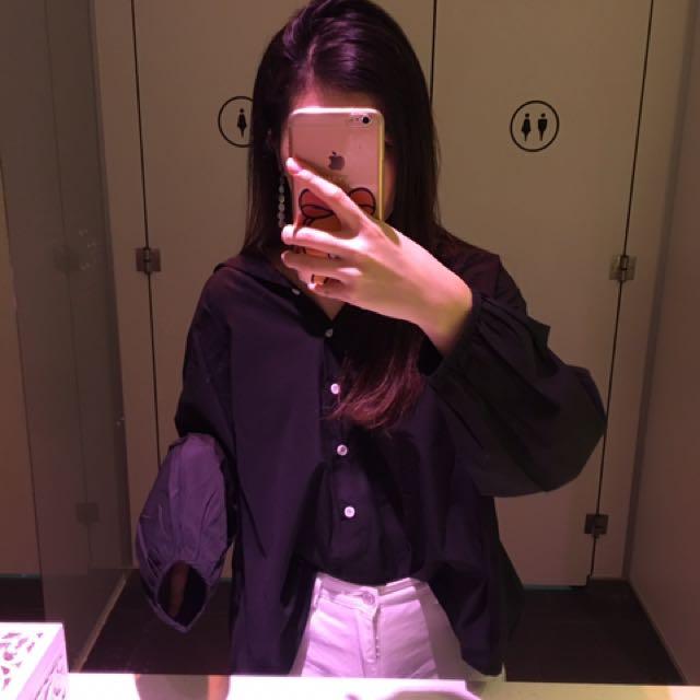 黑色 襯衫
