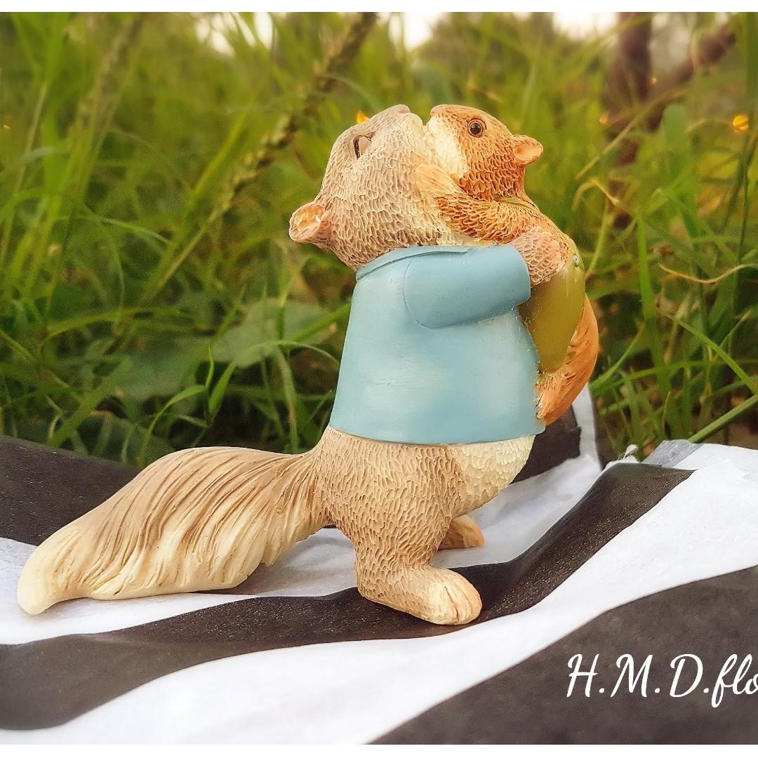 松鼠 親子 玩具 公仔 模型 動物 攝影 道具