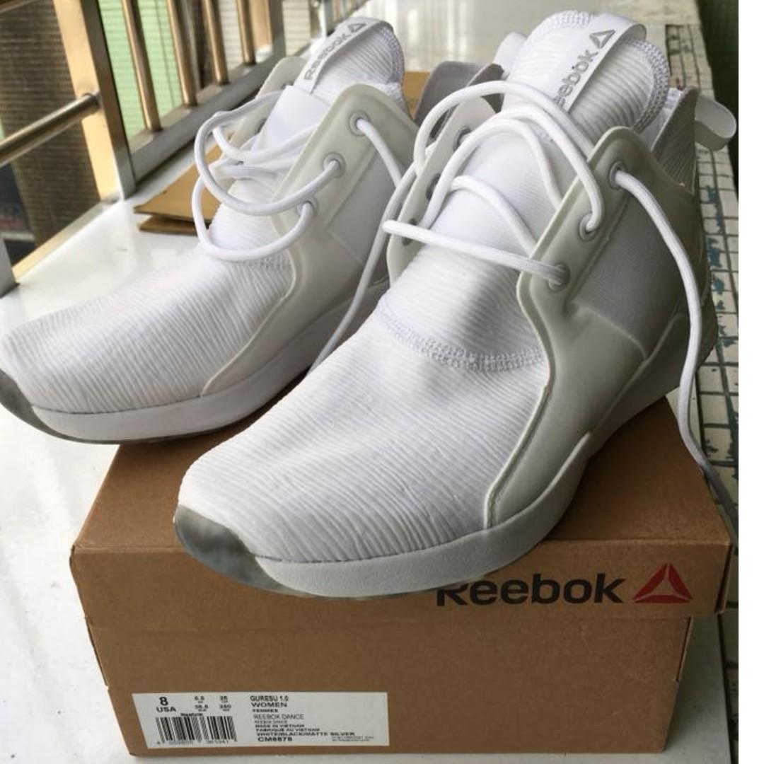 正版 Reebok 訓練鞋 Guresu 1.0 白 全白 襪套式 軟底設計 運動鞋 女鞋 8號