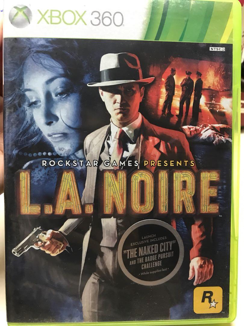 包郵 XBOX 360 L.A. Noire 英文版 95%新