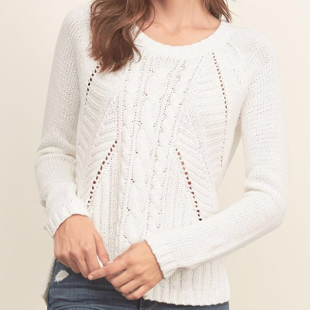 Abercrombie White sweater