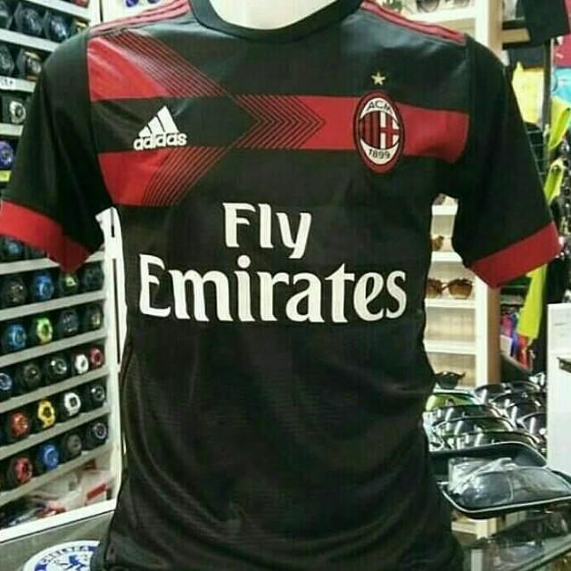 buy popular 20359 a2c06 AC Milan 3rd Kit 17/18