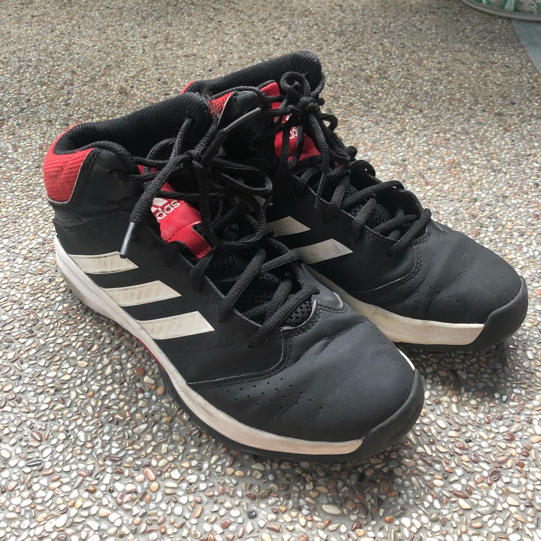 Adidas Black and Red Basketball Shoes