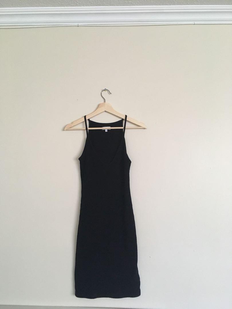 Aritzia Black Light Material Dress