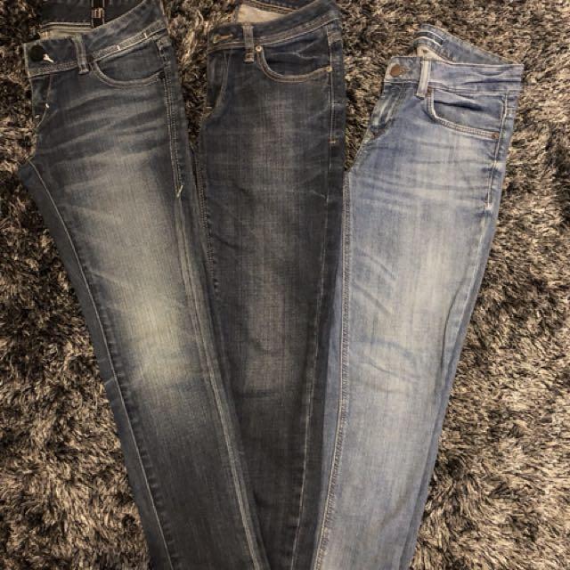Assorted jeans - Levi / Jag / Zara basic