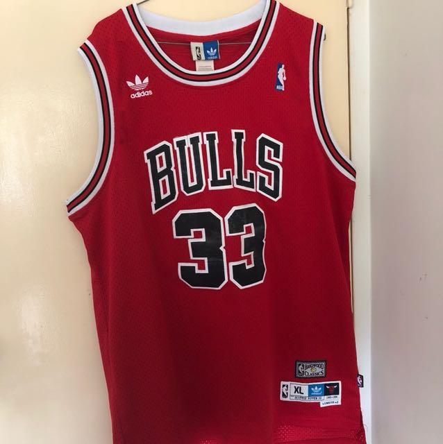 Authentic Adidas Haywood Scotty Pippen Bulls Jersey 95-96