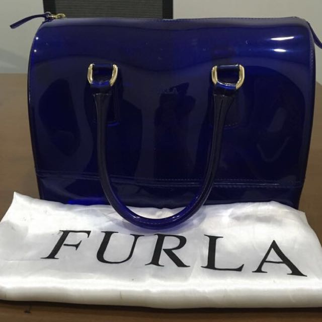 Authentic Furla jelly bag navy