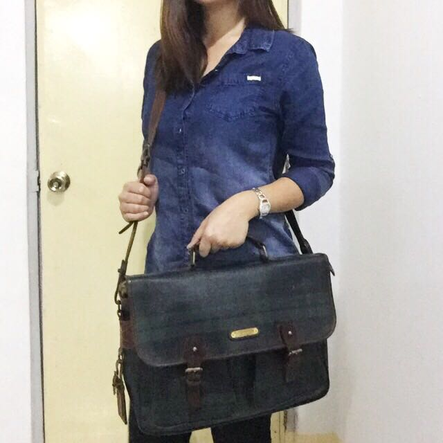 authentic Polo Ralph Lauren messenger laptop bag