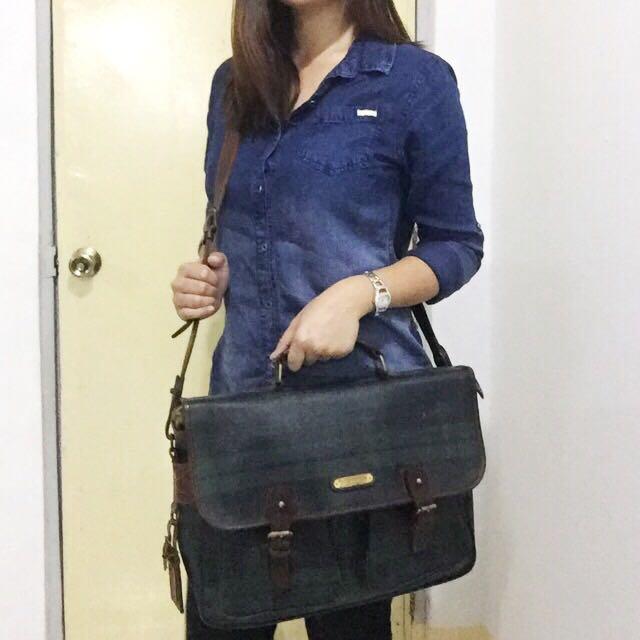 authentic Polo Ralph Lauren vintage messenger laptop bag