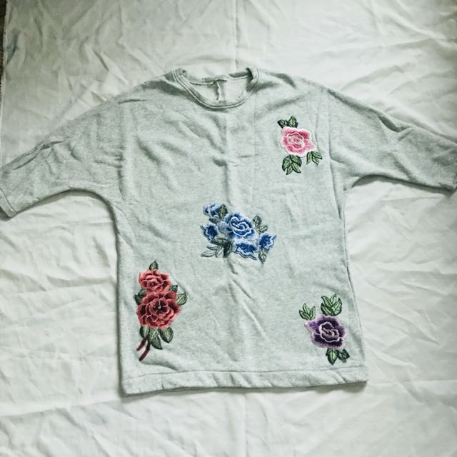 Authentic Zara Basic oversized jumper in floral #hot80