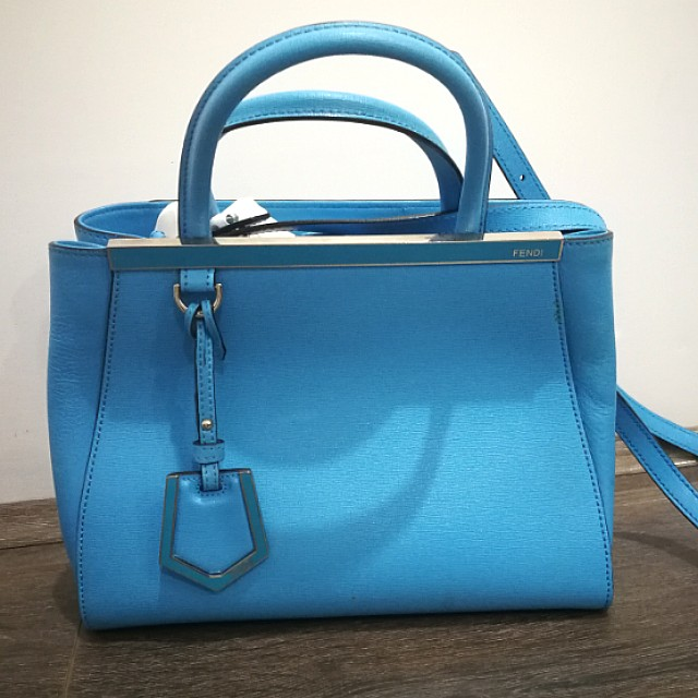 authetic, blue fendi handbag
