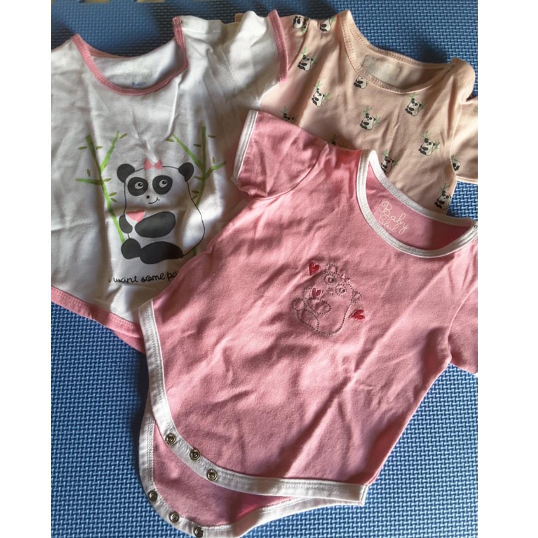 Baby Club Rustans 3 pieces Panda Onesies
