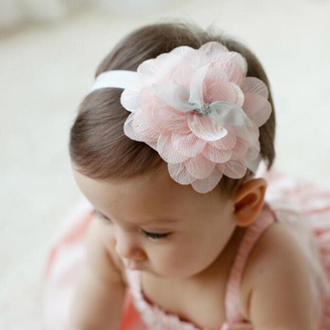 Baby Girl Kids Hair Accessories - Lace Flower Headband / Hairband ...