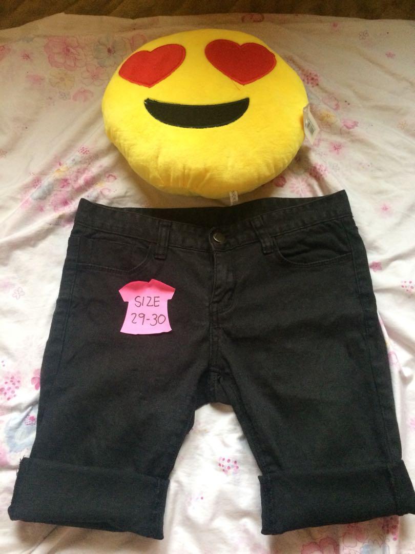 Black Pedal Shorts