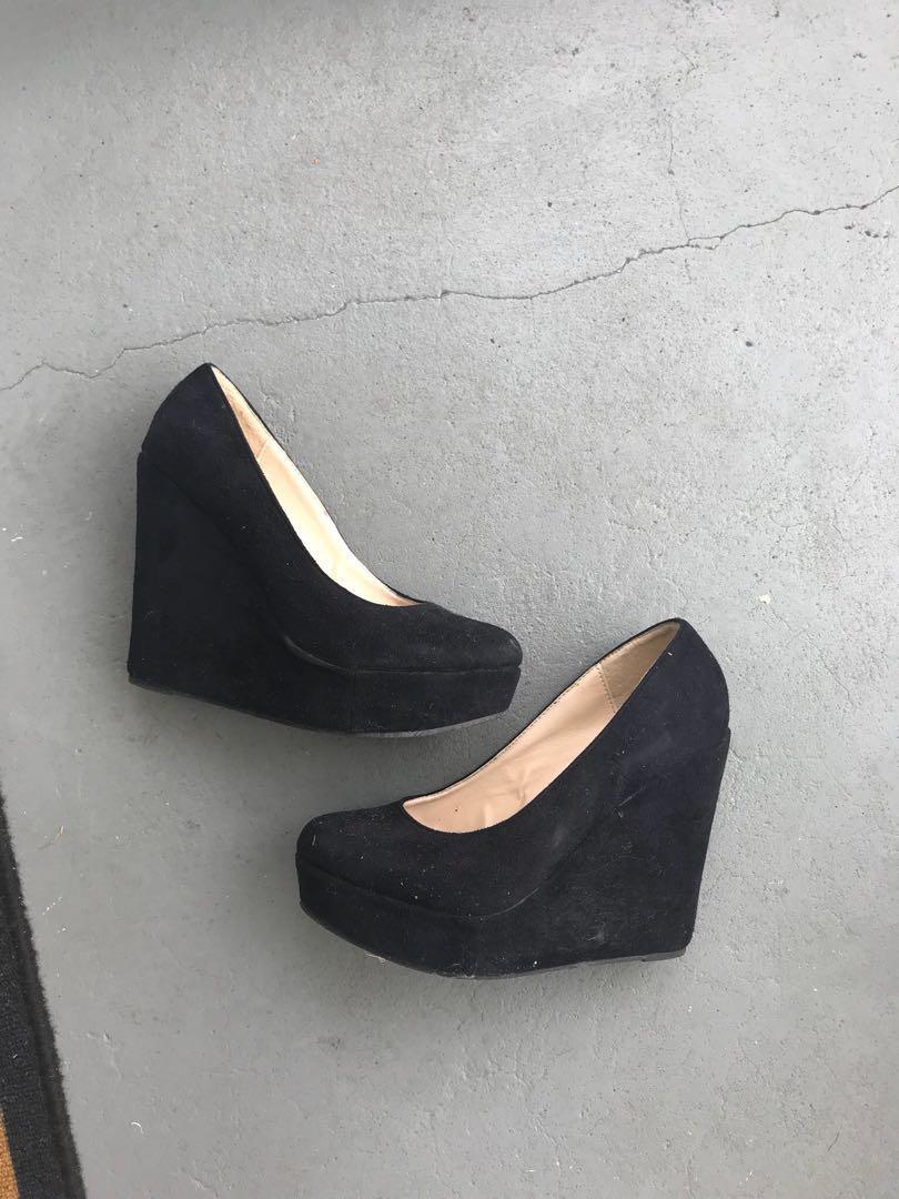 Black RUBI black wedges heels