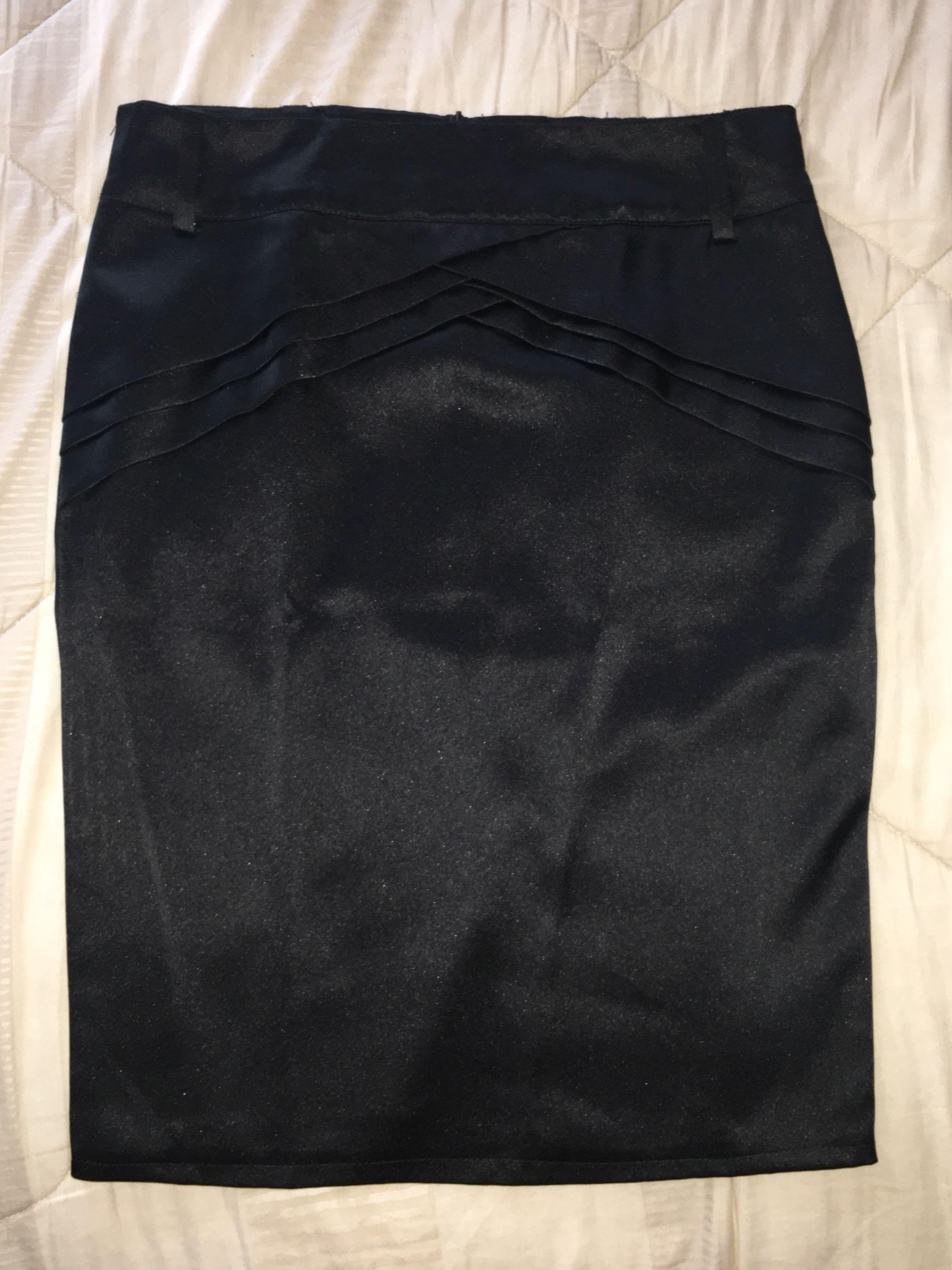 Black skirt satin