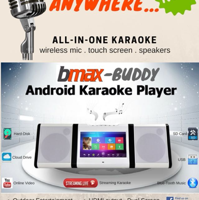BMAX BUDDY ANDROID KARAOKE ALL-IN-ONE PLAYER