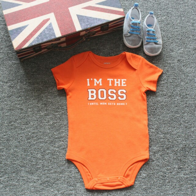 08f70ee7c BN 0-3m I'm the boss Romper, Babies & Kids, Babies Apparel on Carousell