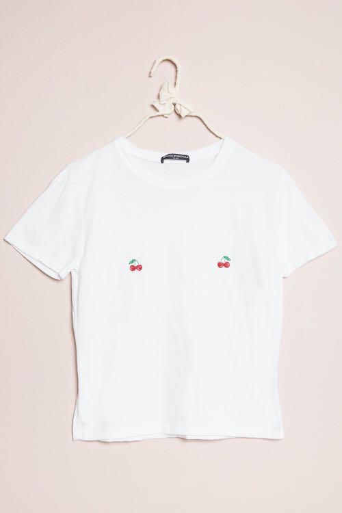 brandy melville cherry shirt