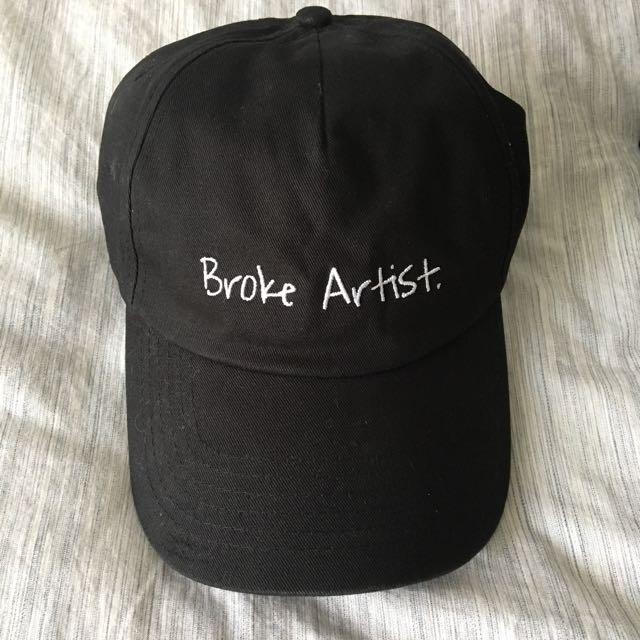 'broke artist' baseball hat