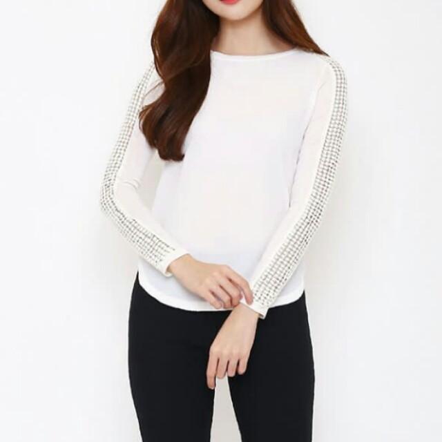 Broken white blouse