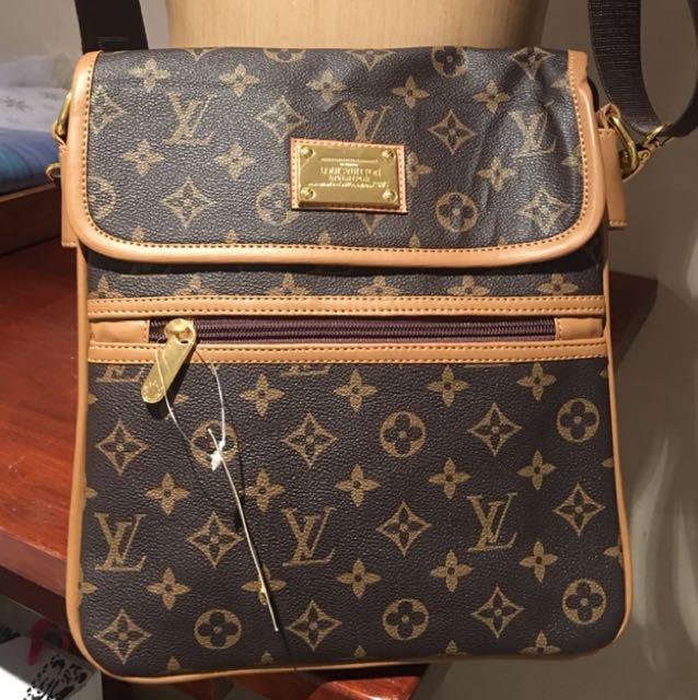 Brown & tan womens handbag
