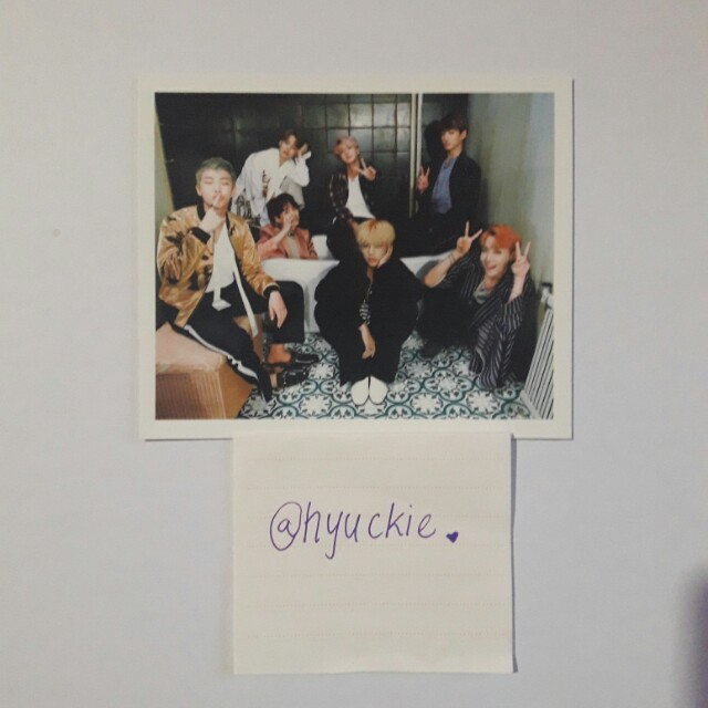 BTS WING Group Photocard