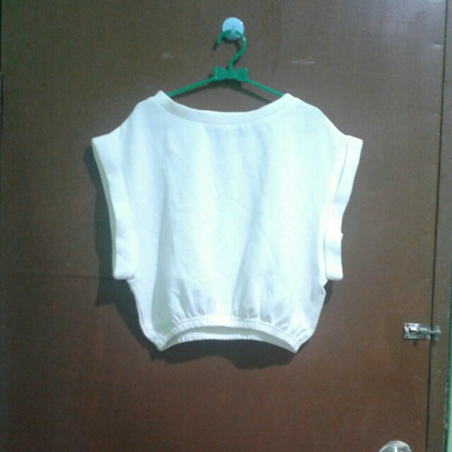 Bysi White Crop Top