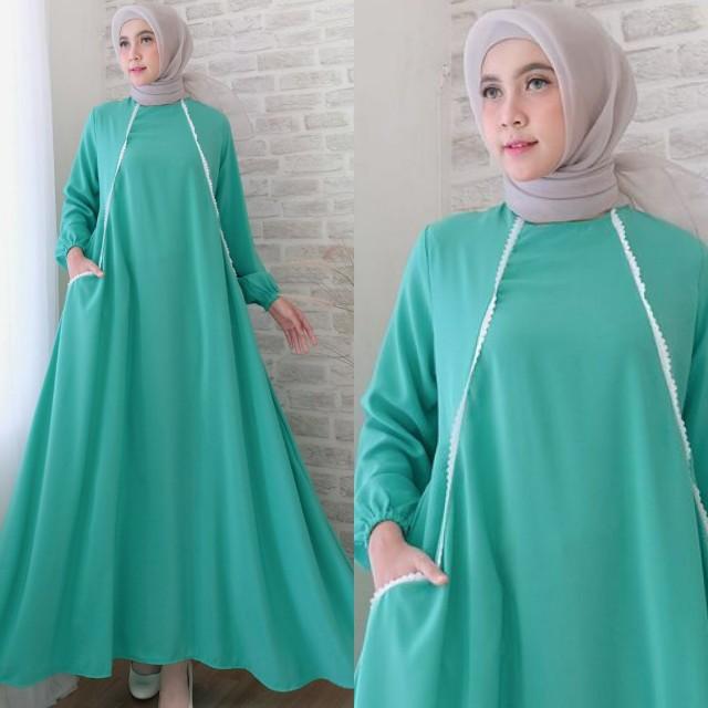 Carlen maxi wanita fashion muslim 4warna