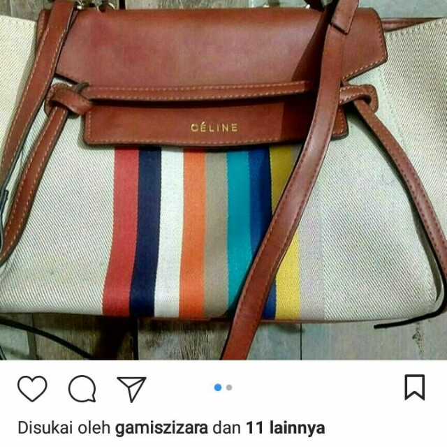 CELINE kanvas Bag 31*22*42