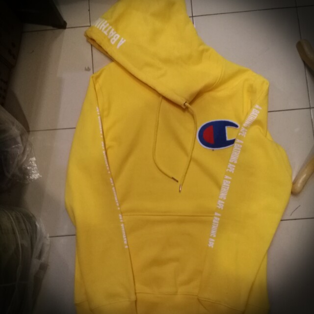 c0a2d2ee Champion x A Bathing Ape Hoodie, Men's Fashion, Clothes, Outerwear on  Carousell