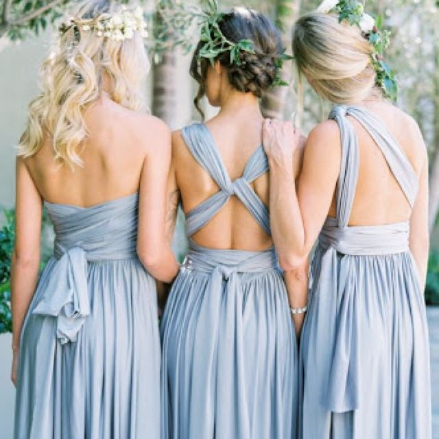 Charcoal convertible dress - set of 4