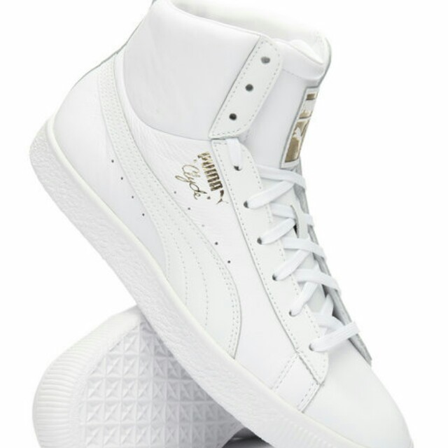 new style 2747d 61940 Clyde Mid Core Foil Sneakers, by Puma